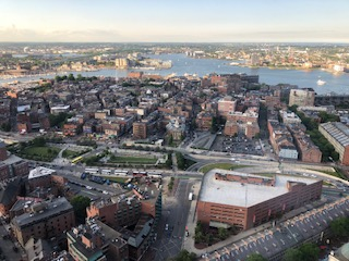 Boston Harbor from top of 60 State Street
